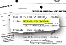 Close Up of Michael Jackson Investigative Files