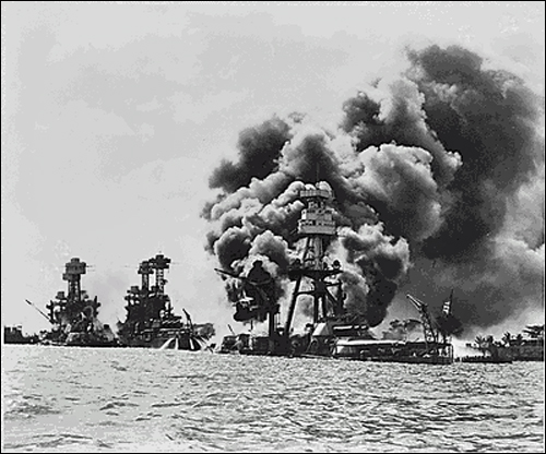 Attack on Pearl Harbor (National Archives Photo)