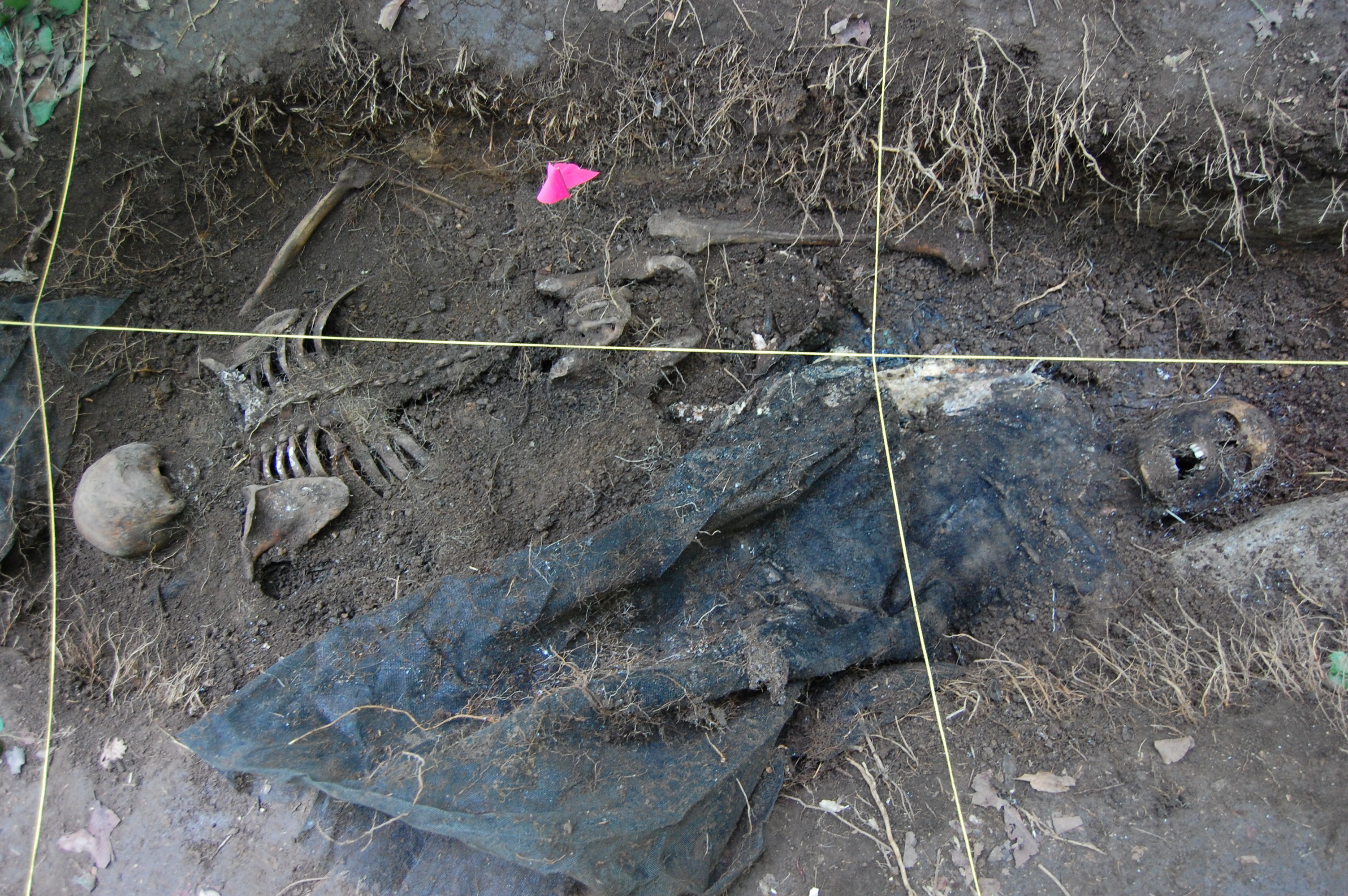 Two bodies in burial site