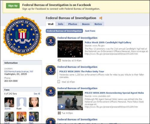 The FBI Facebook page contains videos and timely news updates. S