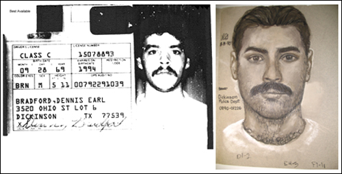 Jennifer's Schuett's description to a sketch artist of her attacker in 1990 turned out to be similar to Dennis Earl Bradford's driver's license picture from the time