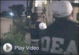 FBI and DEA Agents in Operation Knockout with Play Video Button