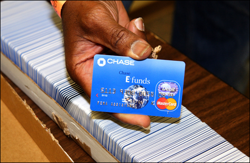FEMA issued debit cards worth $2,000 in the weeks following Katrina. To date, more than 1,300 people have been indicted for Katrina-related crimes, including stealing government funds.