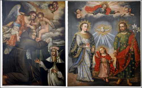 """Saint Dominic"" and ""Doble Trinidad"" Paintings Returned to Peru in 2010"