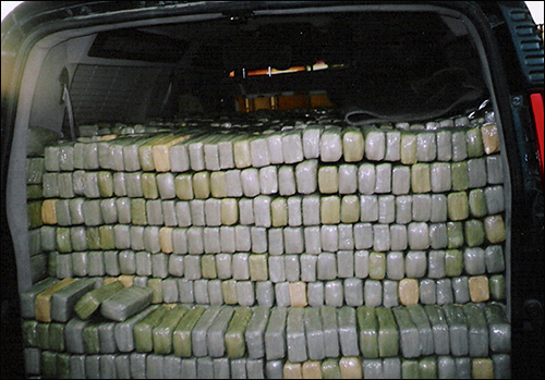 Drugs in back of van