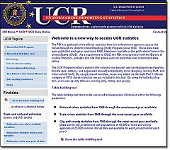 UCR Data Tool screenshot