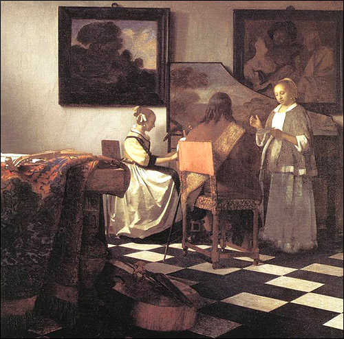 "Johannes Vermeer's ""The Concert"" Painting"