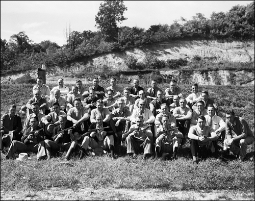 National Academy Class at Range in 1936