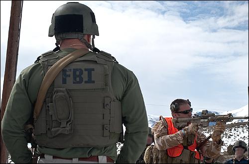 Firearms range training