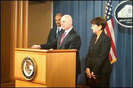 FBI Executive Assistant Director Shawn Henry discusses the operation with reporters at a press conference in Washington, D.C.