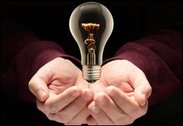 Photograph of a light bulb